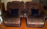 Диван-софа 2 кресла (комплект) б/у продаю срочно