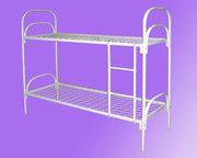 металлические кровати для строителей,  двухъярусные и одноярусные