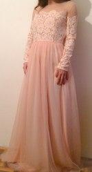 Вечернее платья цвета пудры