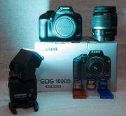 Canon 1000d kit+вспышка+10Гб SD+Сумка